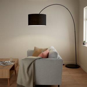 Image of GoodHome Alacrane Matt Black Floor light