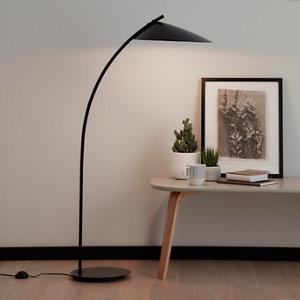 Image of GoodHome Bindarri Matt Black Floor light