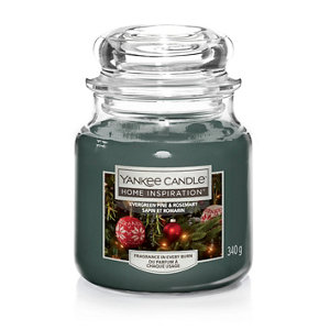 Image of Yankee Candle Evergreen Pine & Rosemary Candle Medium