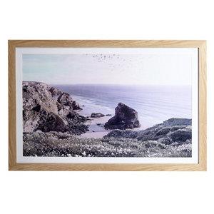 Image of Blissful beach Multicolour Framed print (H)600mm (W)900mm