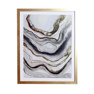 Image of Agate Mono Framed print (H)400mm (W)400mm