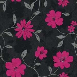 Image of Arthouse Opera Sherbourne Black & pink Floral Wallpaper