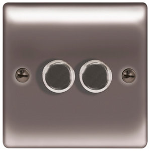 Image of British General 2 way Double Black Nickel effect Dimmer switch