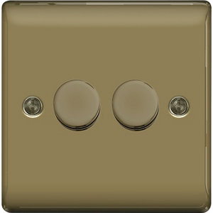 Image of British General 2 way Double Nickel effect Dimmer switch