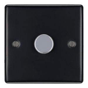 Image of British General 2 way Single Black Dimmer switch