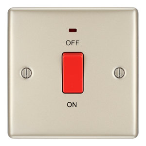 Image of British General 45A Nickel effect Cooker Switch