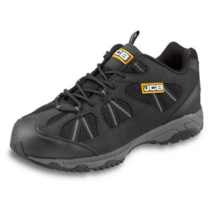 Image of JCB Black & grey Safety trainers Size 9