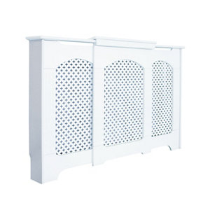 Cambridge Small - medium White Traditional Adjustable Radiator cover