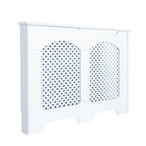 Image of Cambridge Small White Traditional Radiator cover