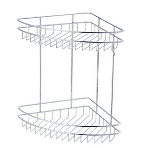 Image of Cooke & Lewis Chrome effect Steel Shower caddie