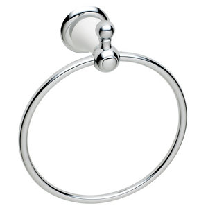 Image of Cooke & Lewis Timeless Wall-mounted Chrome effect Towel ring (W)160mm