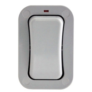 Image of Diall 20A 2 way Grey Single outdoor Switch