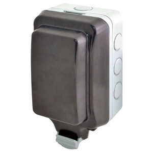 Image of Diall 13A Grey Outdoor Unswitched Unswitched socket