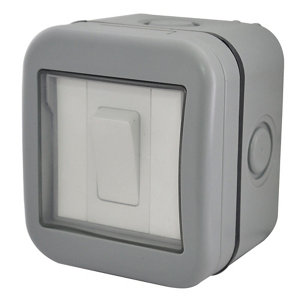 Image of Diall 10A 2 way Grey Switch