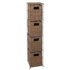 Image of Form Beige 2 Shelf Tower unit (H)800mm (W)300mm