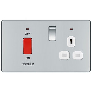 Image of Colours 45A Chrome effect Cooker Switch