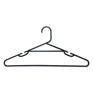 Image of Form Black Plastic Clothes hangers Pack of 10