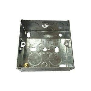 Image of B&Q Metal 25mm Single Pattress box