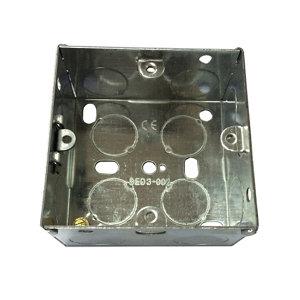 Image of B&Q Metal 35mm Single Pattress box
