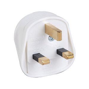 Image of B&Q 13A White Plug