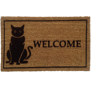 Image of Colours Black & natural Coir & PVC Door mat (L)0.75m (W)0.45m
