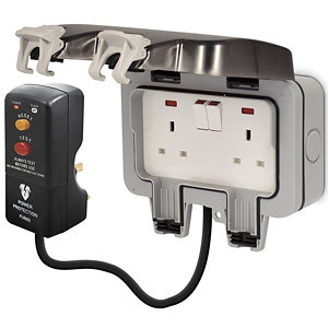 Image of Diall 13A Grey Double Switched Socket