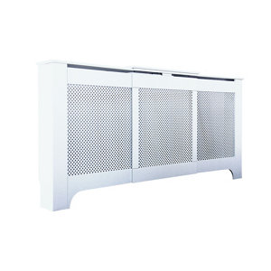 Mayfair Medium - large White Adjustable Radiator cover