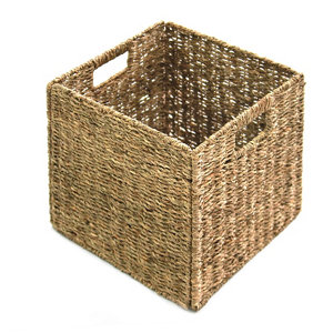 Image of 8L Seagrass Foldable Storage basket (H)300mm (W)300mm