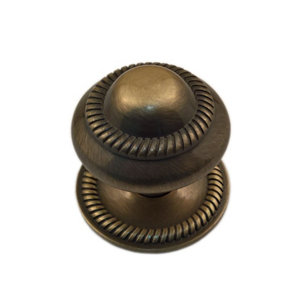 Image of Antique brass effect Metal Round Roped Furniture Knob (Dia)37mm