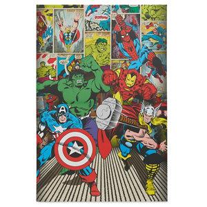 Image of Marvel Avenger Multicolour Canvas art (H)900mm (W)600mm