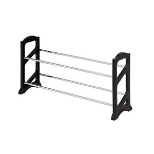 Image of Form Black Stackable Shoe rack (H)380mm (W)710mm