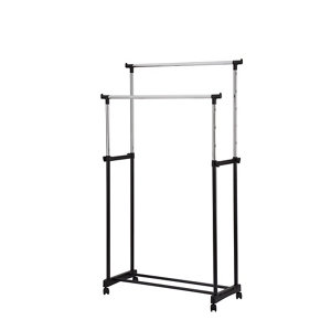 Image of Form Black & silver Double Freestanding clothes rail
