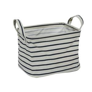Image of Navy stripe Storage bin