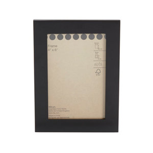 Image of Black Flat Picture frame (H)13.6cm x (W)18.6cm
