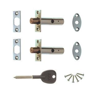 Image of ERA Satin Brass Concealed door bolt (L)78mm Pack of 2