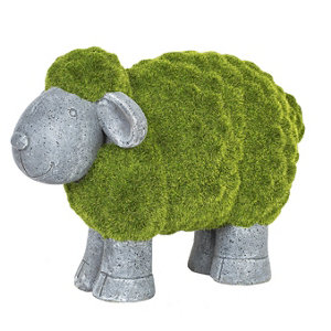 Image of La Hacienda Flocked sheep Garden ornament