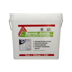 Image of Sika Ready mixed Buff Paving joint repair grout 15kg Tub
