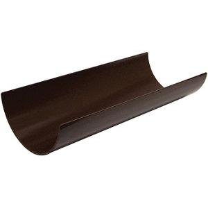 FloPlast Brown Half round Gutter length (L)2m (Dia)112mm