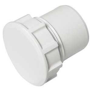 FloPlast White Solvent weld Waste pipe Access plug  (Dia)32mm