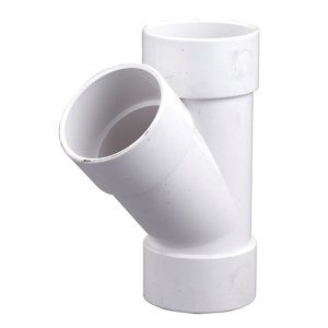 FloPlast White Solvent weld 45° Waste pipe Branch (Dia)32mm