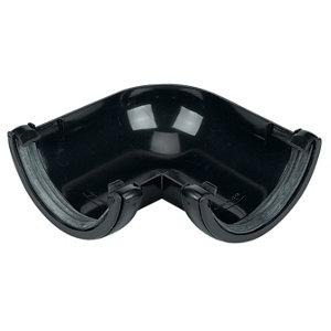 Image of FloPlast Black Round 90° Gutter angle (Dia)112mm