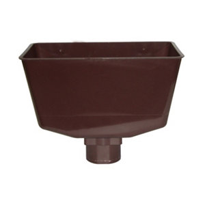 Image of FloPlast Brown Round Gutter hopper (L)185mm (W)112mm