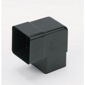 Image of FloPlast Black Square 92.5° Offset Downpipe bend