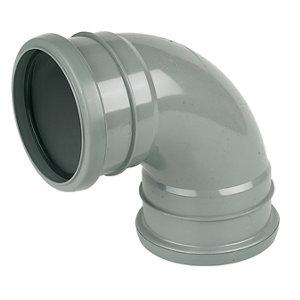 FloPlast Ring seal soil Grey Soil & vent bend  (Dia)110mm (L)133mm
