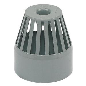 FloPlast Ring seal soil Grey Solvent weld Vent terminal  (Dia)110mm
