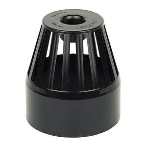 FloPlast Ring seal soil Black Solvent weld Vent terminal  (Dia)110mm