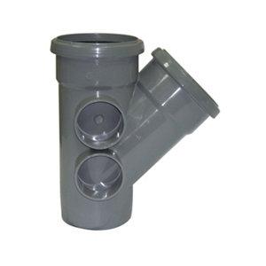 FloPlast Ring seal soil Grey Soil branch  (Dia)110mm (L)164mm