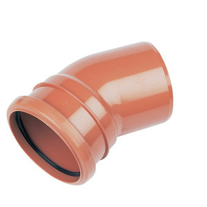 FloPlast Underground drainage Single socket Bend 285117  (Dia)110mm (L)132mm