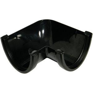 Image of FloPlast Hi-cap Black 90° Gutter angle (Dia)115mm