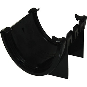 Image of FloPlast Hi-cap Black Half round Union Bracket (Dia)115mm